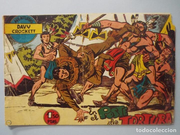 COMIC - DAVY CROCKETT - Nº 14 , EN EL POSTE DE TORTURA - FERMA , AÑO 1959 - ORIGINAL .. L399 (Tebeos y Comics - Ferma - Otros)