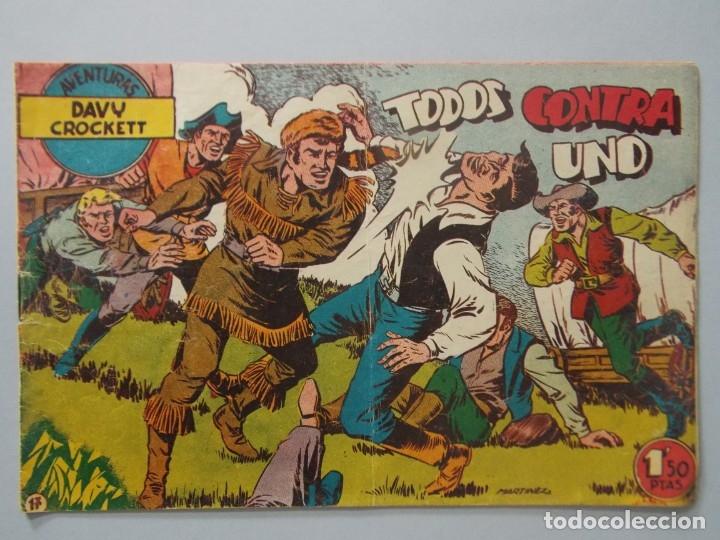 COMIC - DAVY CROCKETT - Nº 17 , TODOS CONTRA UNO - FERMA , AÑO 1959 - ORIGINAL .. L400 (Tebeos y Comics - Ferma - Otros)