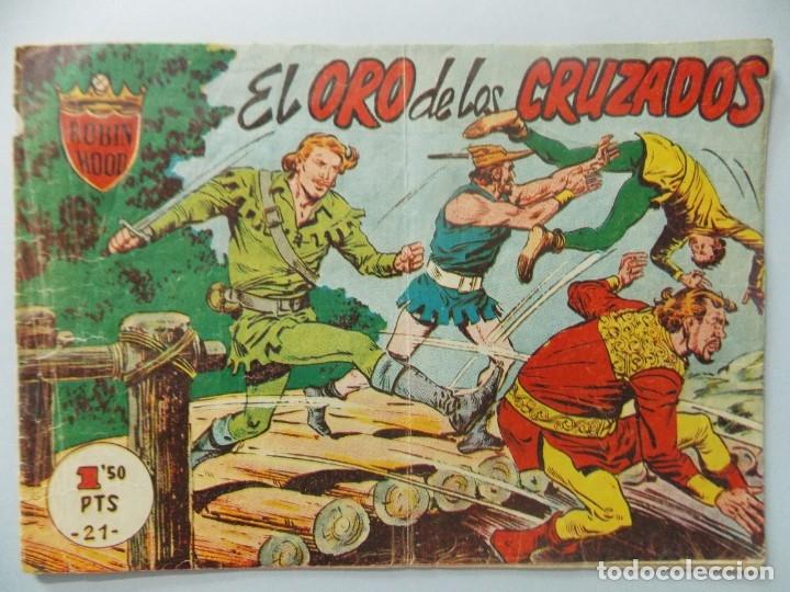 COMIC - ROBIN HOOD - Nº 21 , EL ORO DE LOS CRUZADOS - FERMA , AÑO 1958 - ULTIMO, ORIGINAL .. L401 (Tebeos y Comics - Ferma - Otros)