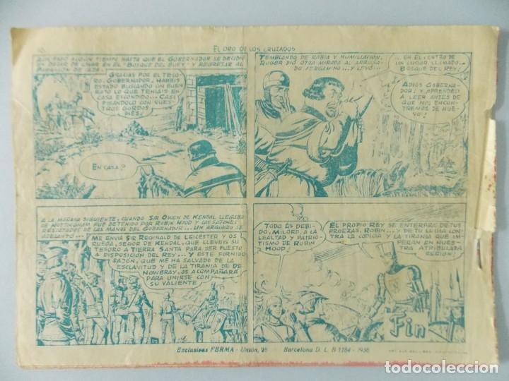 Tebeos: COMIC - ROBIN HOOD - Nº 21 , EL ORO DE LOS CRUZADOS - FERMA , AÑO 1958 - ULTIMO, ORIGINAL .. L401 - Foto 5 - 178341251