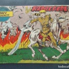 Tebeos: COMIC - DAVY CROCKETT - Nº 4 - LOS RENEGADOS - AÑO 1958 - FERMA - ORIGINAL . L415. Lote 178945825
