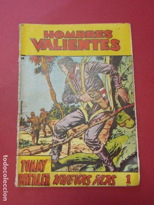 COMIC - HOMBRES VALIENTES , TOMMY BATALLA - Nº 14 , NUEVAS ALAS - ED. FERMA 1958 .. L441 (Tebeos y Comics - Ferma - Otros)