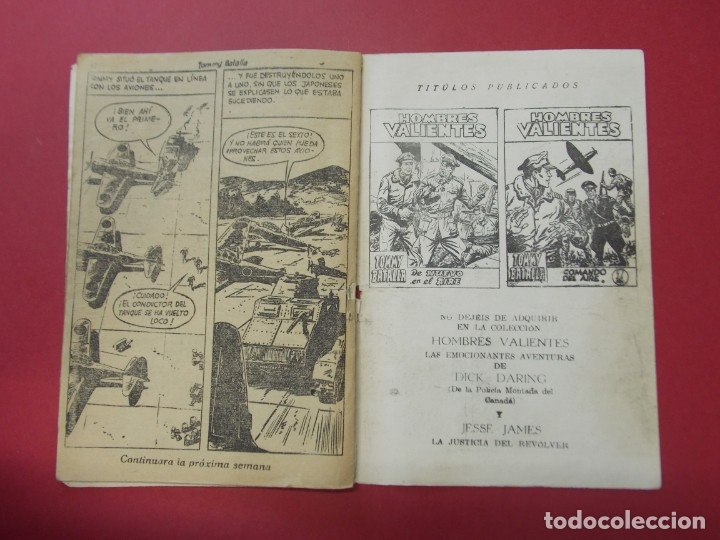 Tebeos: COMIC - HOMBRES VALIENTES , TOMMY BATALLA - Nº 15 , BATALLA ATACA SOLO - ED. FERMA 1958 .. L442 - Foto 4 - 180015185