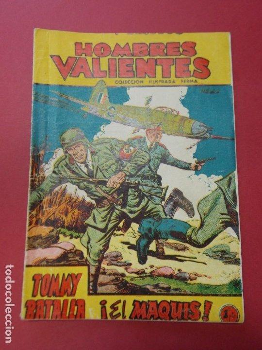COMIC - HOMBRES VALIENTES , TOMMY BATALLA - Nº 22 , EL MAQUIS - ED. FERMA 1958 .. L443 (Tebeos y Comics - Ferma - Otros)