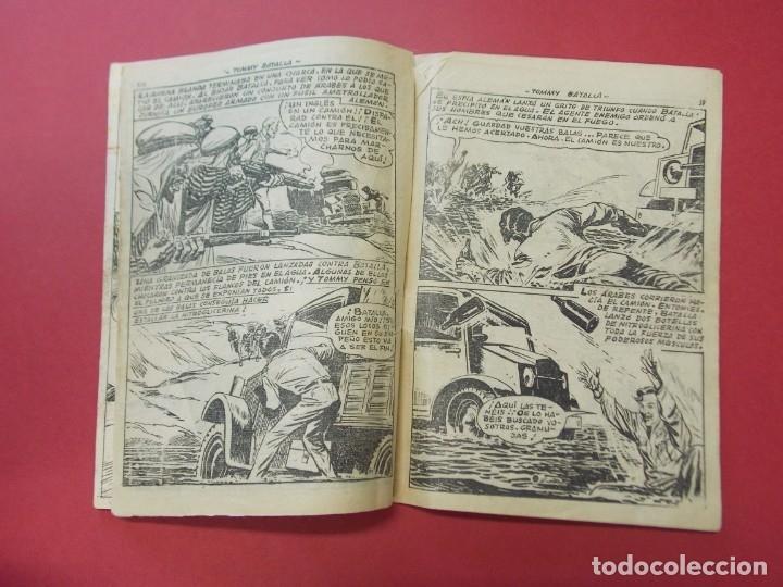 Tebeos: COMIC - HOMBRES VALIENTES , TOMMY BATALLA - Nº 24, PETROLEO INCENDIADO - FERMA 1958 . L444 - Foto 3 - 180016652