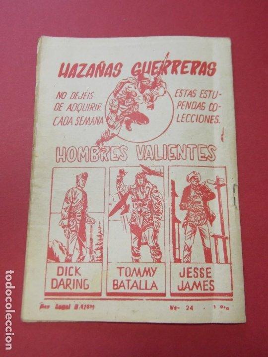Tebeos: COMIC - HOMBRES VALIENTES , TOMMY BATALLA - Nº 24, PETROLEO INCENDIADO - FERMA 1958 . L444 - Foto 5 - 180016652