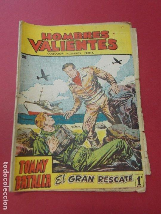 COMIC - HOMBRES VALIENTES , TOMMY BATALLA - Nº 28 , EL GRAN RESCATE - FERMA 1958 . L445 (Tebeos y Comics - Ferma - Otros)