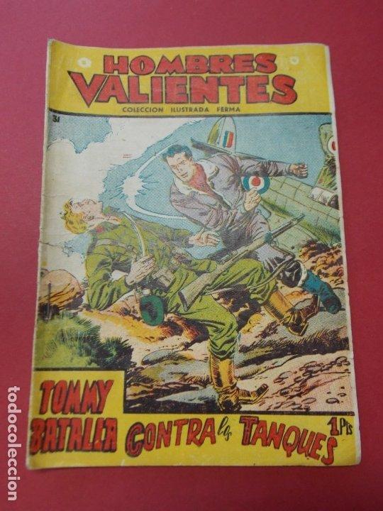 COMIC - HOMBRES VALIENTES , TOMMY BATALLA - Nº 24 , CONTRA LOS TANQUES - FERMA 1958 . L446 (Tebeos y Comics - Ferma - Otros)