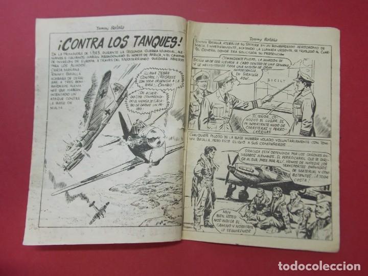 Tebeos: COMIC - HOMBRES VALIENTES , TOMMY BATALLA - Nº 24 , CONTRA LOS TANQUES - FERMA 1958 . L446 - Foto 2 - 180032183