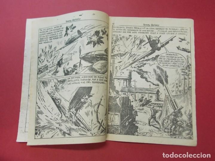Tebeos: COMIC - HOMBRES VALIENTES , TOMMY BATALLA - Nº 24 , CONTRA LOS TANQUES - FERMA 1958 . L446 - Foto 3 - 180032183