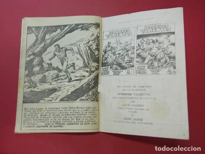 Tebeos: COMIC - HOMBRES VALIENTES , TOMMY BATALLA - Nº 24 , CONTRA LOS TANQUES - FERMA 1958 . L446 - Foto 4 - 180032183