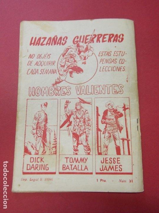 Tebeos: COMIC - HOMBRES VALIENTES , TOMMY BATALLA - Nº 24 , CONTRA LOS TANQUES - FERMA 1958 . L446 - Foto 5 - 180032183