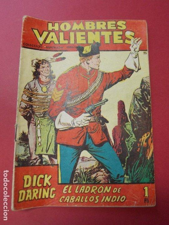 COMIC - HOMBRES VALIENTES, DICK DARING - Nº 15, EL LADRON DE CABALLOS INDIO - FERMA 1958 - L452 (Tebeos y Comics - Ferma - Otros)