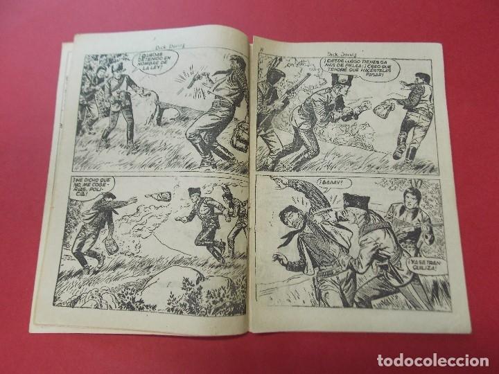 Tebeos: COMIC - HOMBRES VALIENTES, DICK DARING - Nº 15, EL LADRON DE CABALLOS INDIO - FERMA 1958 - L452 - Foto 3 - 180457495