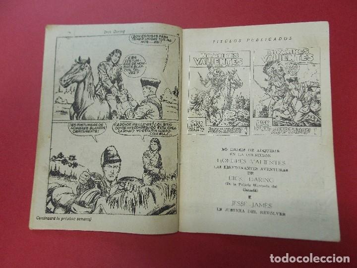 Tebeos: COMIC - HOMBRES VALIENTES, DICK DARING - Nº 15, EL LADRON DE CABALLOS INDIO - FERMA 1958 - L452 - Foto 4 - 180457495