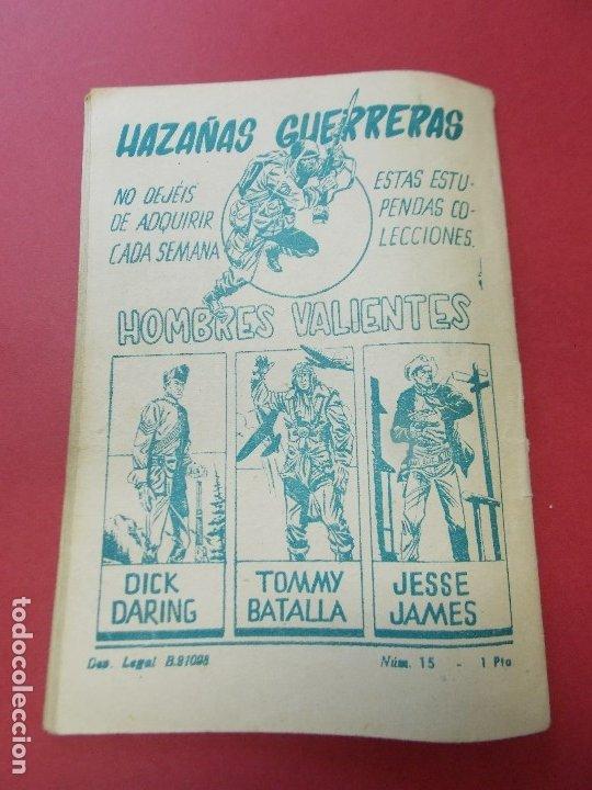 Tebeos: COMIC - HOMBRES VALIENTES, DICK DARING - Nº 15, EL LADRON DE CABALLOS INDIO - FERMA 1958 - L452 - Foto 5 - 180457495