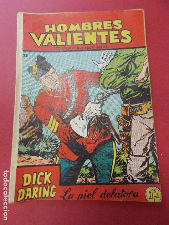 COMIC - HOMBRES VALIENTES, DICK DARING - Nº 22, LA PIEL DELATORA - FERMA 1958 - L454 (Tebeos y Comics - Ferma - Otros)