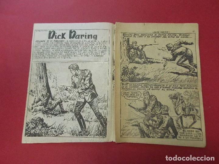 Tebeos: COMIC - HOMBRES VALIENTES, DICK DARING - Nº 22, LA PIEL DELATORA - FERMA 1958 - L454 - Foto 2 - 180458737
