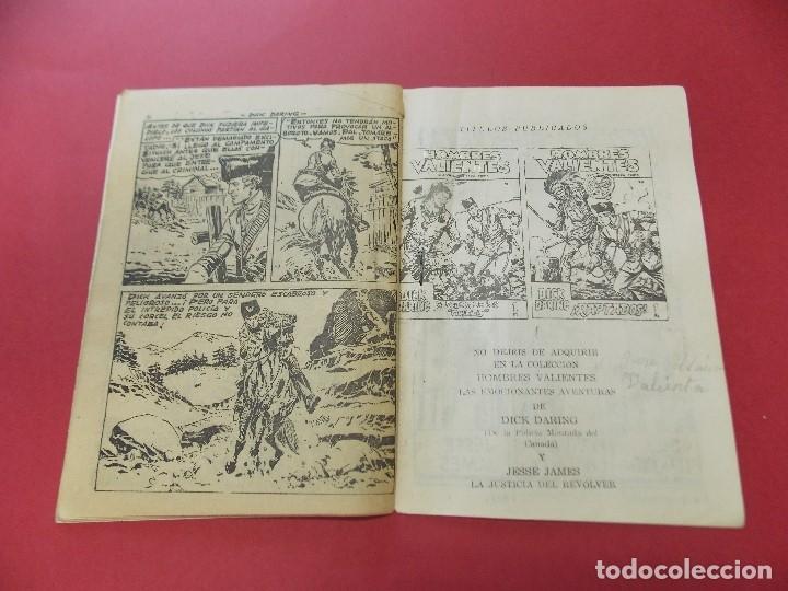 Tebeos: COMIC - HOMBRES VALIENTES, DICK DARING - Nº 22, LA PIEL DELATORA - FERMA 1958 - L454 - Foto 4 - 180458737
