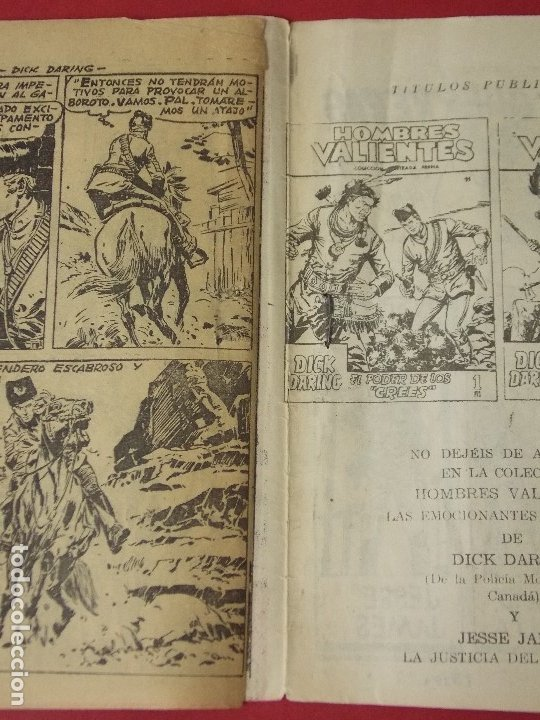 Tebeos: COMIC - HOMBRES VALIENTES, DICK DARING - Nº 22, LA PIEL DELATORA - FERMA 1958 - L454 - Foto 7 - 180458737