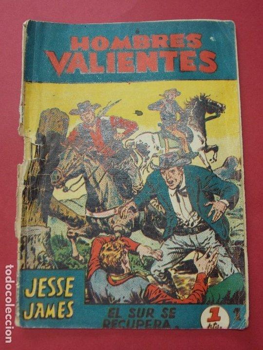 COMIC - HOMBRES VALIENTES, JESSE JAMES - Nº 1, EL SUR SE RECUPERA - 1958 - ORIGINAL ... L457 (Tebeos y Comics - Ferma - Otros)