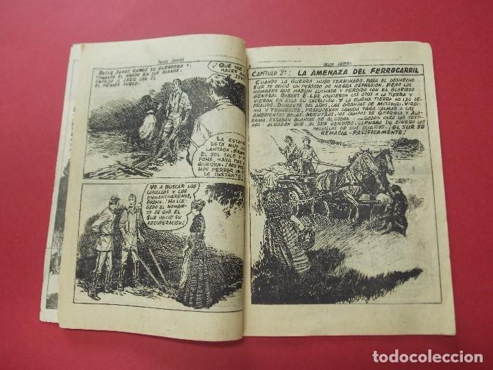 Tebeos: COMIC - HOMBRES VALIENTES, JESSE JAMES - Nº 1, EL SUR SE RECUPERA - 1958 - ORIGINAL ... L457 - Foto 3 - 180838253