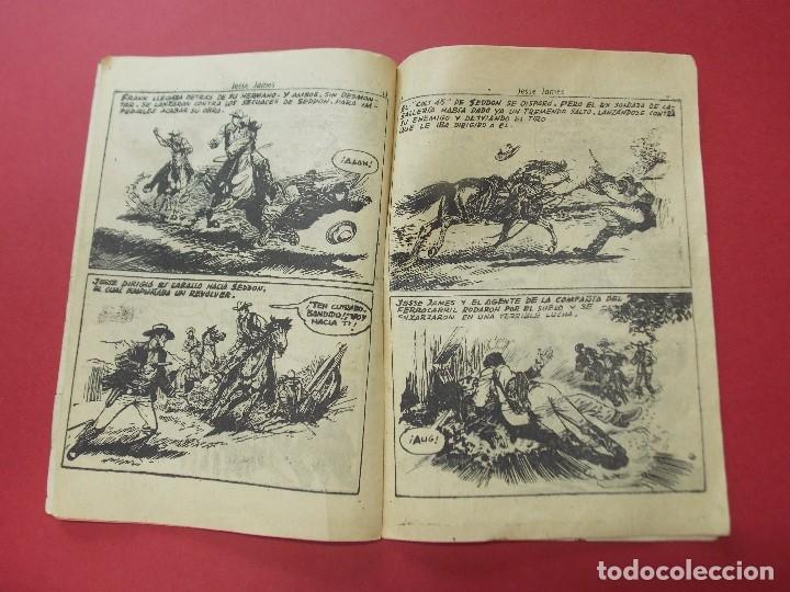 Tebeos: COMIC - HOMBRES VALIENTES, JESSE JAMES - Nº 1, EL SUR SE RECUPERA - 1958 - ORIGINAL ... L457 - Foto 4 - 180838253