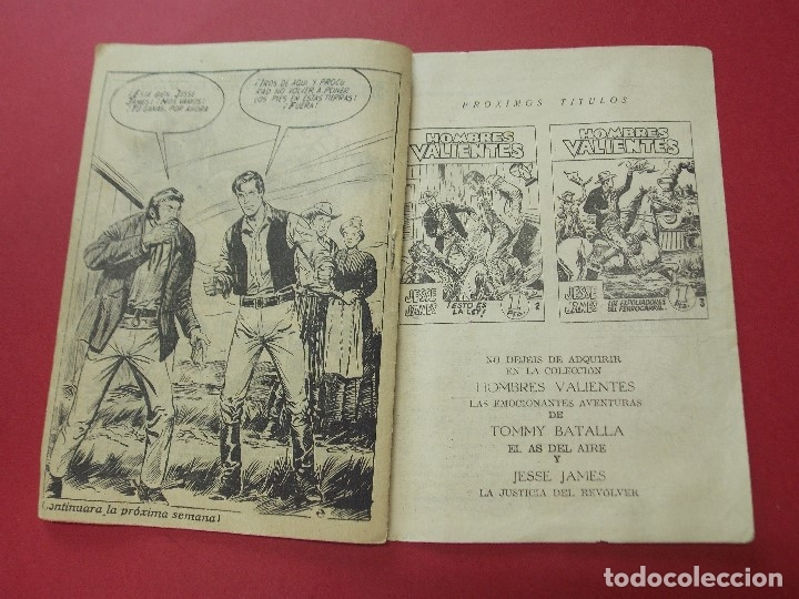 Tebeos: COMIC - HOMBRES VALIENTES, JESSE JAMES - Nº 1, EL SUR SE RECUPERA - 1958 - ORIGINAL ... L457 - Foto 5 - 180838253