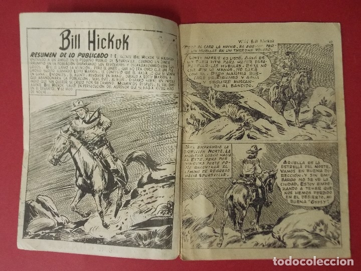 Tebeos: COMIC - HOMBRES VALIENTES, BILL HICKOK - Nº 16, EL HOMBRE DE LA CHARCA - 1958 - ORIGINAL ... L462 - Foto 2 - 181007015