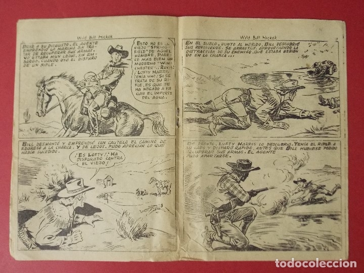 Tebeos: COMIC - HOMBRES VALIENTES, BILL HICKOK - Nº 16, EL HOMBRE DE LA CHARCA - 1958 - ORIGINAL ... L462 - Foto 3 - 181007015