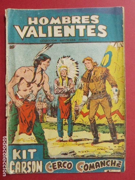 COMIC - HOMBRES VALIENTES, KIT CARSON - Nº 20, CERCO COMANCHE - 1958 - ORIGINAL ... L463 (Tebeos y Comics - Ferma - Otros)