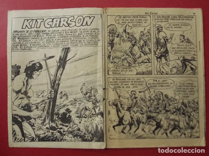Tebeos: COMIC - HOMBRES VALIENTES, KIT CARSON - Nº 20, CERCO COMANCHE - 1958 - ORIGINAL ... L463 - Foto 2 - 181010208
