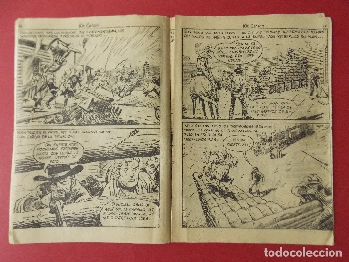 Tebeos: COMIC - HOMBRES VALIENTES, KIT CARSON - Nº 20, CERCO COMANCHE - 1958 - ORIGINAL ... L463 - Foto 3 - 181010208