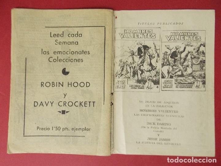 Tebeos: COMIC - HOMBRES VALIENTES, KIT CARSON - Nº 20, CERCO COMANCHE - 1958 - ORIGINAL ... L463 - Foto 4 - 181010208