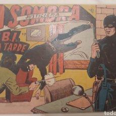 Tebeos: COMIC LA SOMBRA JUSTICIERA N°17 EL FBI LLEGA TARDE FERMA 1954. Lote 181514172