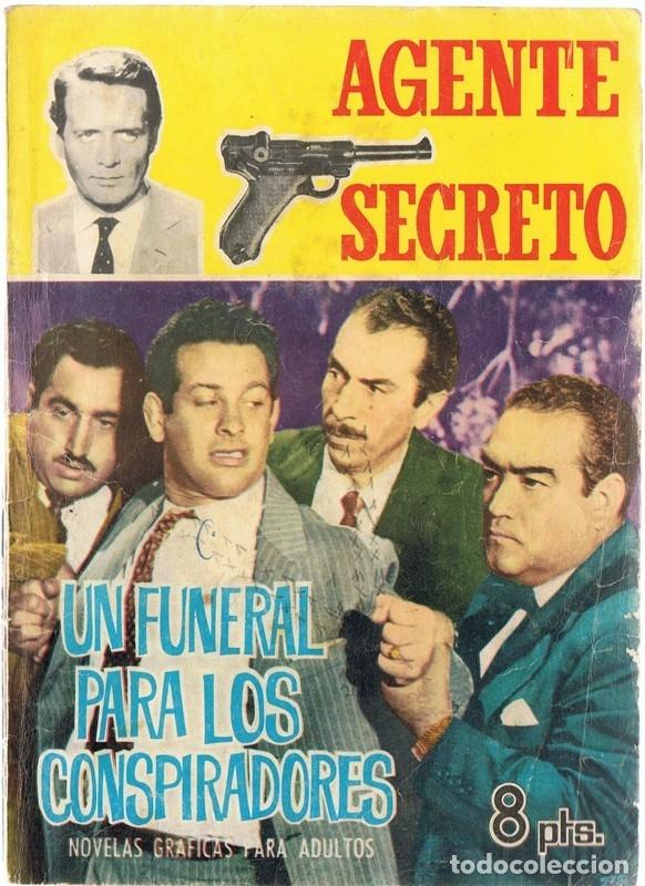 AGENTE SECRETO UN FUNERAL PARA LOS CONSPIRADORES AÑO 1966 (Tebeos y Comics - Ferma - Agente Secreto)