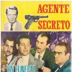 Tebeos: AGENTE SECRETO UN FUNERAL PARA LOS CONSPIRADORES AÑO 1966 . Lote 182306713