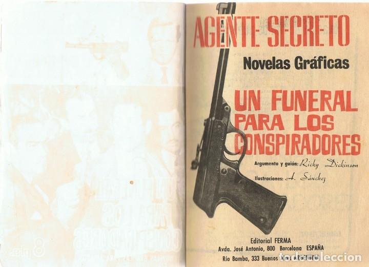 Tebeos: AGENTE SECRETO UN FUNERAL PARA LOS CONSPIRADORES AÑO 1966 - Foto 2 - 182306713
