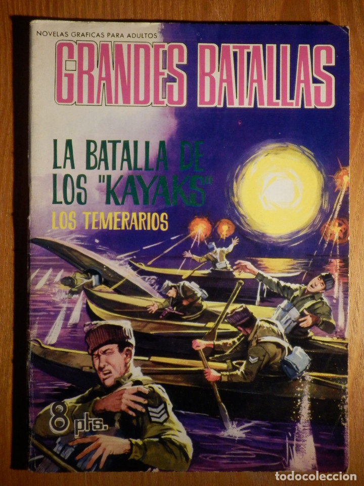COMIC - GRANDES BATALLAS - Nº 65 - LA BATALLA DE KAYAKS - LOS TEMERARIOS - FERMA 1965 (Tebeos y Comics - Ferma - Otros)
