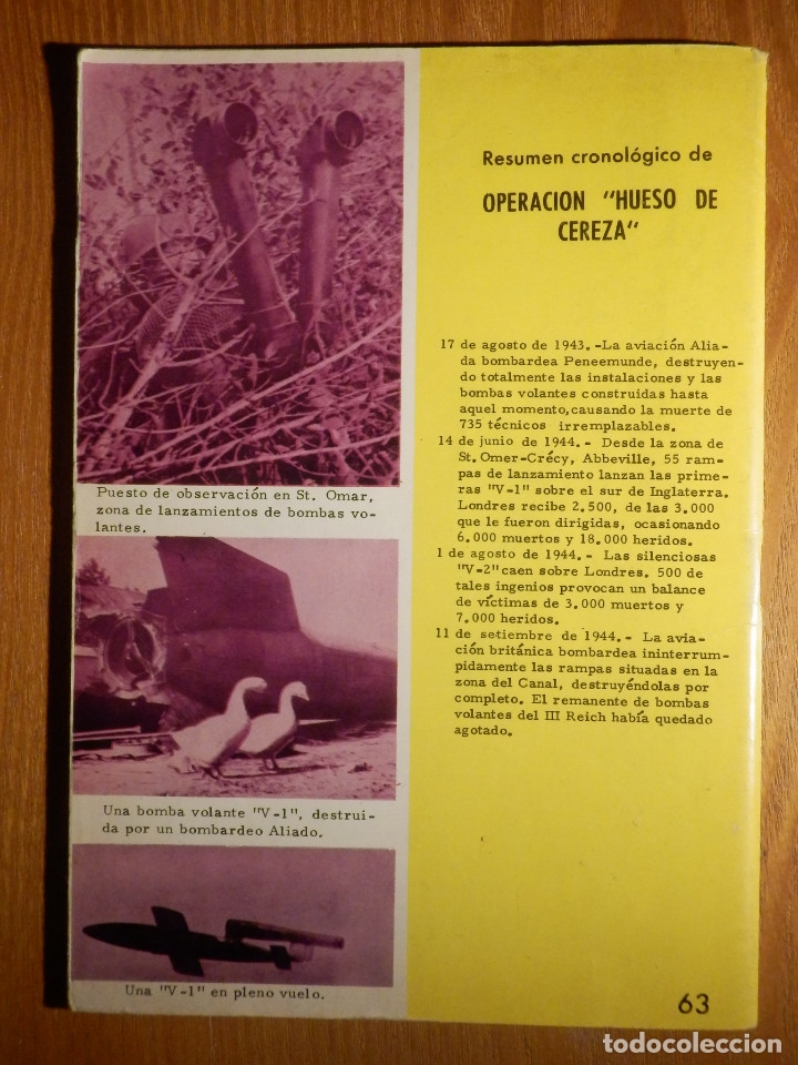 Tebeos: Comic - Grandes batallas - Nº 63 - Operación Hueso de Cereza - Armas Secretas - Ferma 1965 - Foto 2 - 182681577
