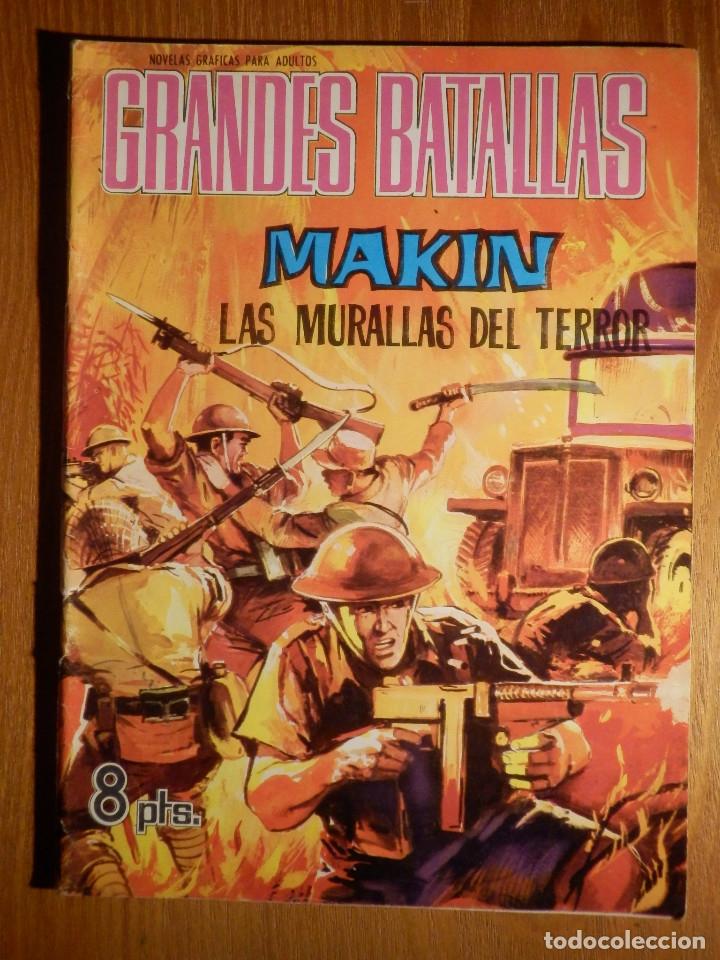 COMIC - GRANDES BATALLAS - Nº 78 - MAKIN - LAS MURALLAS DEL TERROR - FERMA 1965 (Tebeos y Comics - Ferma - Otros)