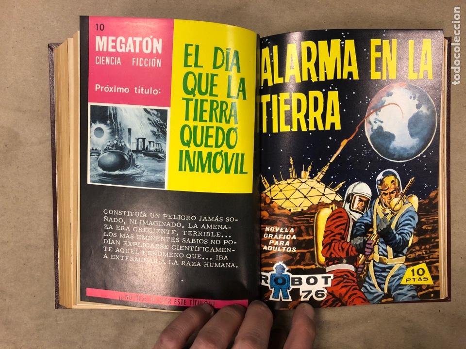 Tebeos: LOTE DE 6 NÚMEROS DE MEGATON (FERMA) + 3 DE ROBOT 76 ENCUADERNADOS. XD AÑO 1966/67. - Foto 15 - 182782393