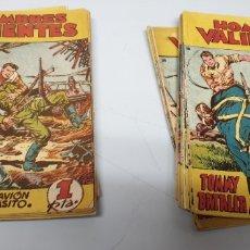 Tebeos: TOMMY BATALLA / HOMBRES VALIENTES / LOTE DE 29 NUMEROS / FERMA 1958. Lote 182894437
