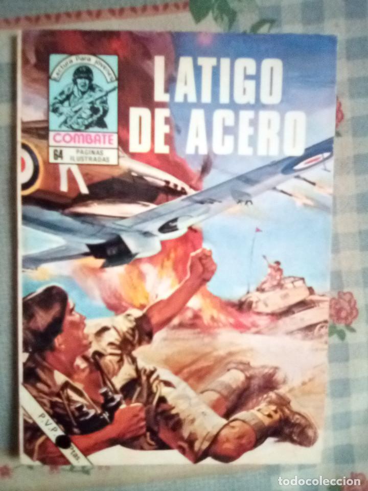 COMBATE- NOVELA GRÁFICA- Nº 166 -LÁTIGO DE ACERO- BUEN ESTADO-1979-GRAN ALDOMÁ PUIG-LEAN-2410 (Tebeos y Comics - Ferma - Combate)