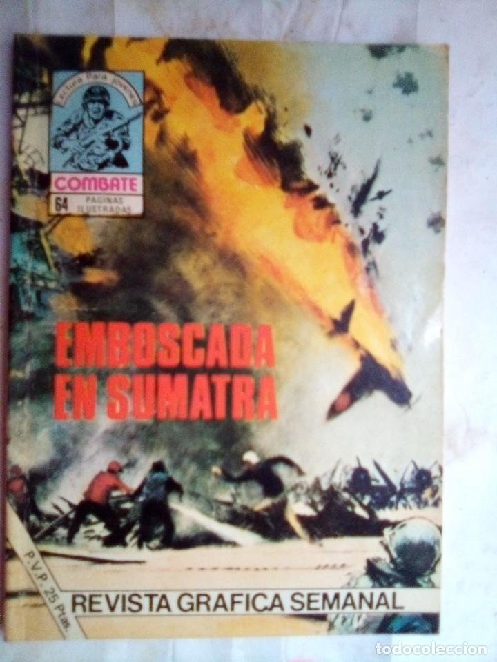 COMBATE-NOVELA GRÁFICA- Nº 222 -EMBOSCADA EN SUMATRA-1980-RARO-MUY DIFÍCIL-BUENO-LEAN-2413 (Tebeos y Comics - Ferma - Combate)