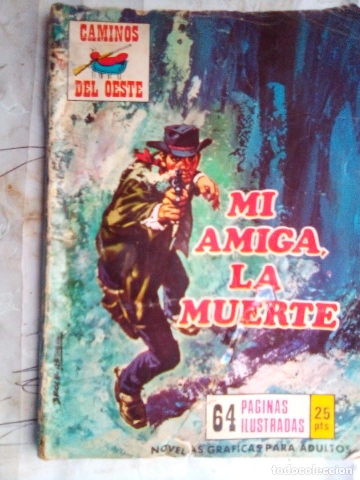 CAMINOS DEL OESTE- Nº 119 -1976-MI AMIGA,LA MUERTE-GRAN RAFAEL MÉNDEZ-REGULAR-DIFICIL-LEA-2408 (Tebeos y Comics - Ferma - Otros)