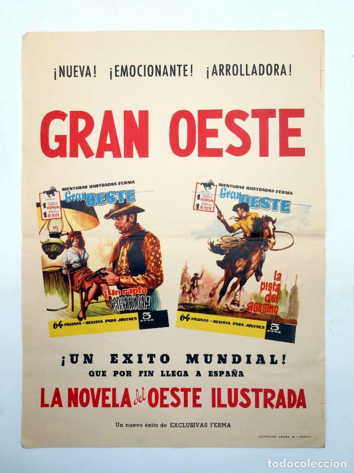 POSTER O CARTEL PROMOCIONAL GRAN OESTE. AVENTURAS ILUSTRADAS FERMA. FERMA, 1961 (Tebeos y Comics - Ferma - Gran Oeste)