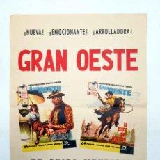 BDs: POSTER O CARTEL PROMOCIONAL GRAN OESTE. AVENTURAS ILUSTRADAS FERMA. FERMA, 1961. Lote 223146707