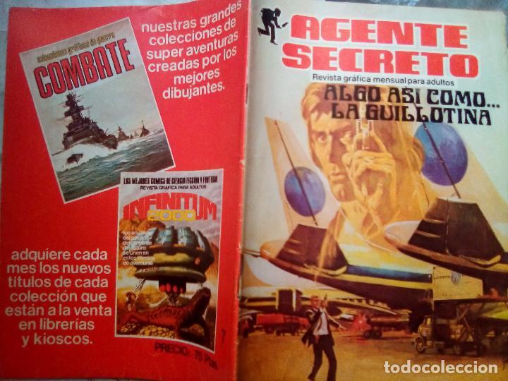 Tebeos: AGENTE SECRETO- Nº 7 -ALGO ASÍ COMO... LA GUILLOTINA-1982 -SORPRENDENTE-BUENO-DIFÍCIL-LEAN-2571 - Foto 3 - 188699191