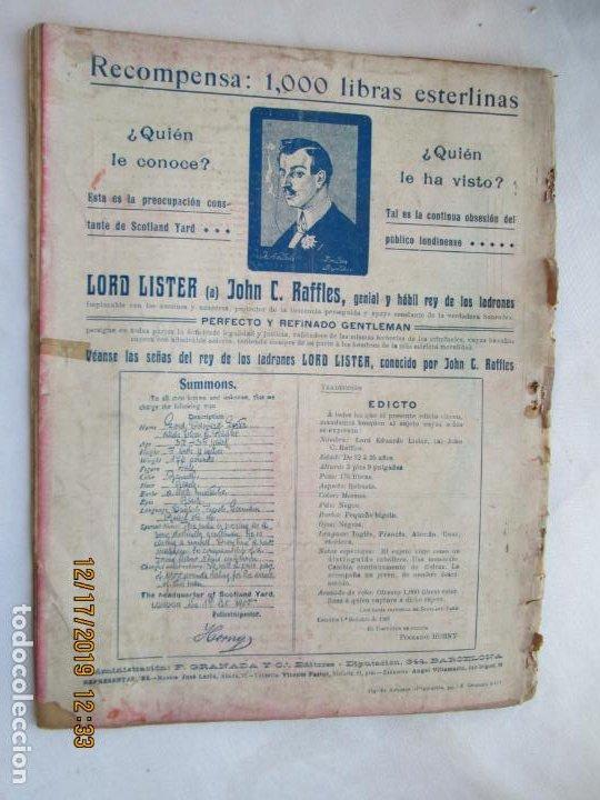 Tebeos: LORD LISTER , RAFFLES EL REY DE LOS LADRONES , EL NEGRO EN EL BOUDOIR Nº 5 - 1900? - Foto 2 - 188764303